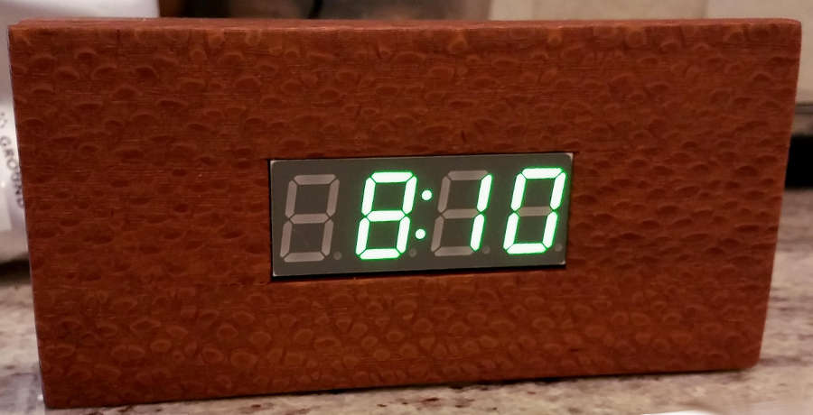 Image: The finished digital clock.